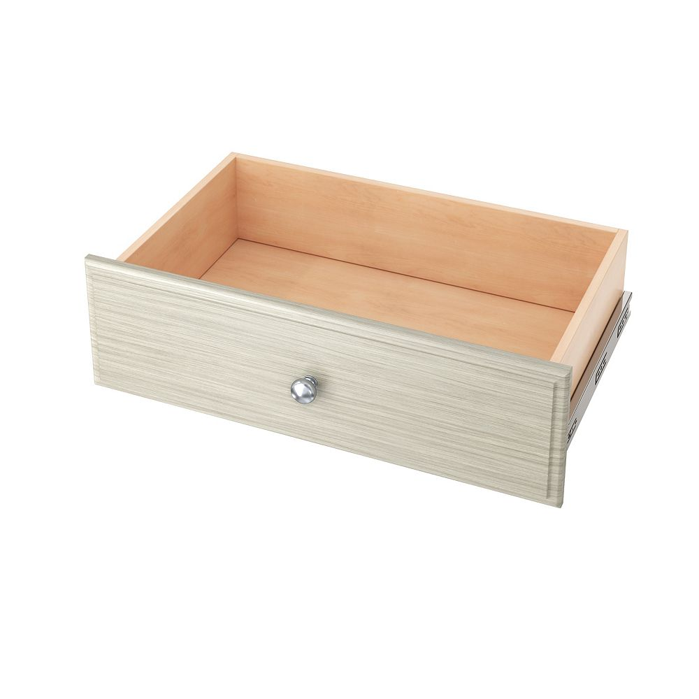 Closet Evolution 8-inch Deluxe Drawer in Rustic Grey