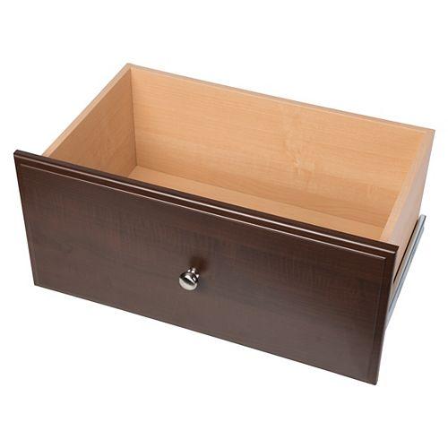Closet Evolution 12-inch Deluxe Drawer in Espresso