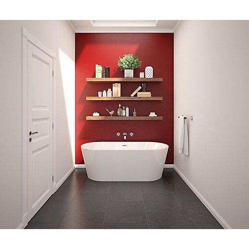 Lorca 66.875 inch x 31.25 inch Freestanding Bathtub with Center Drain in White