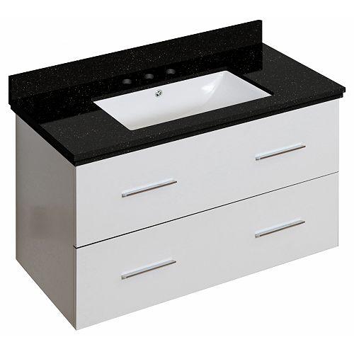 American Imaginations 18.25-inch D White Vanity Set