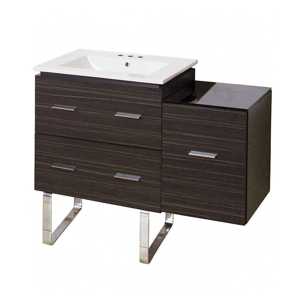 American Imaginations 37.7-inch W Vanity With Ceramic Top