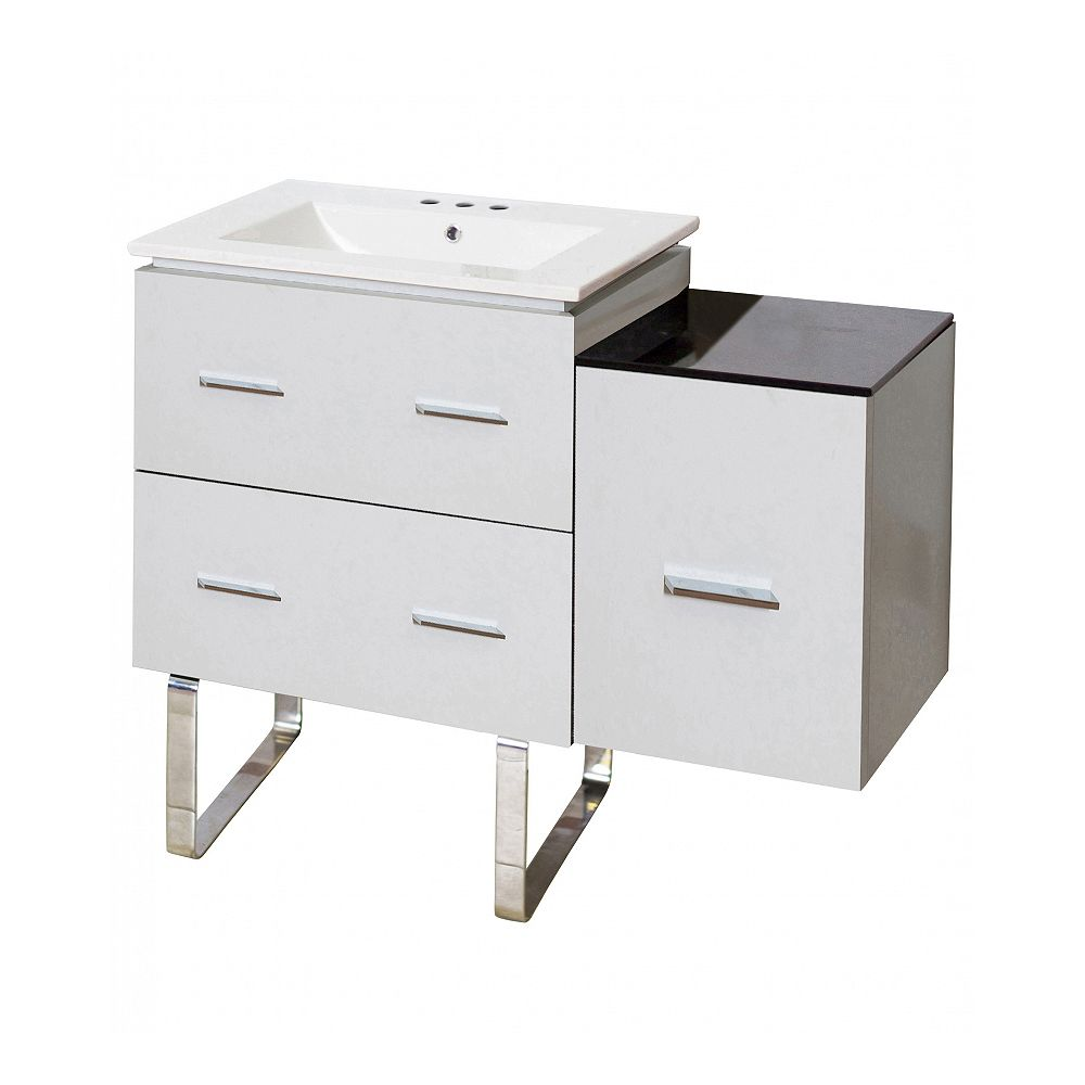 American Imaginations 37.75-inch W Vanity With Ceramic Top
