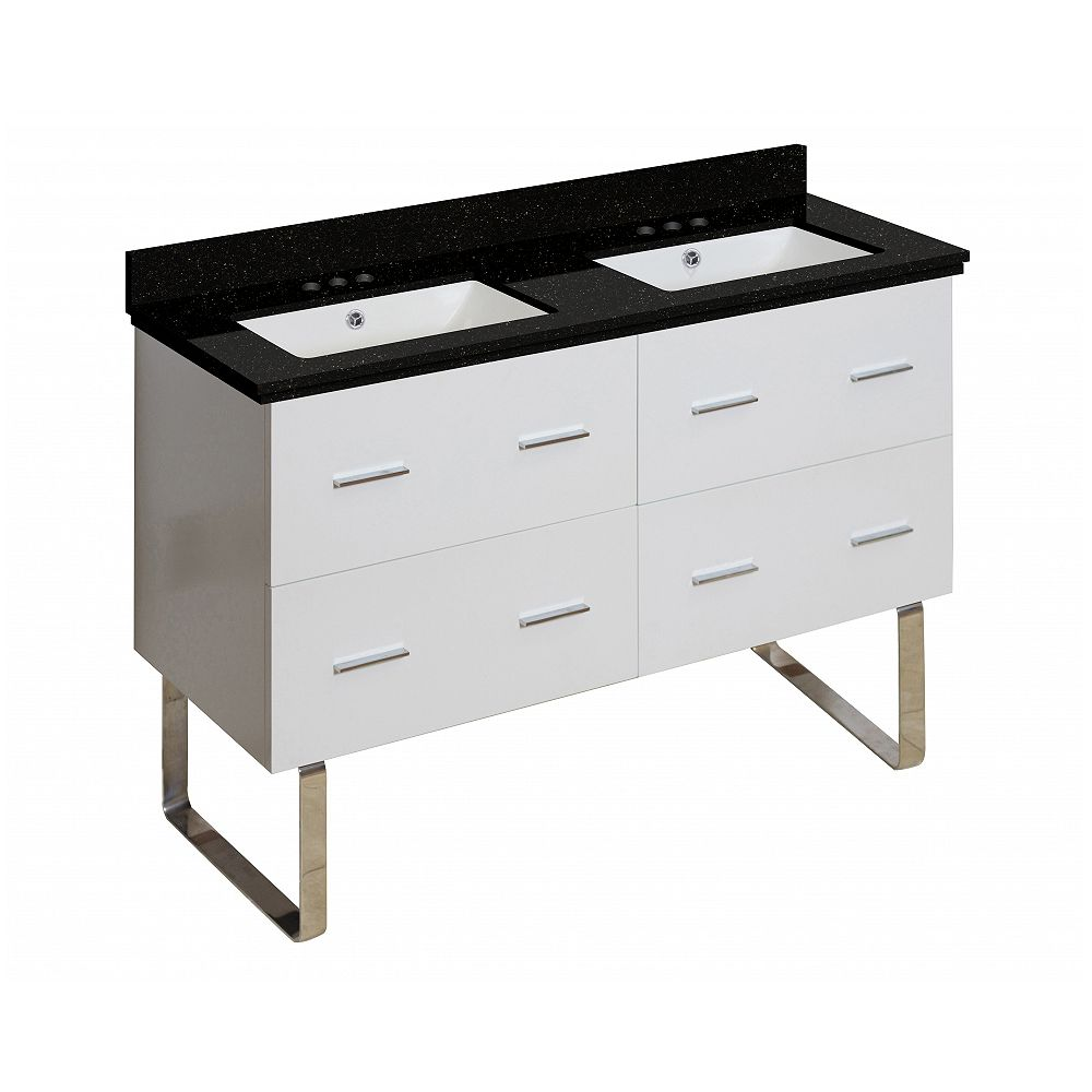 American Imaginations 47.5-inch W Vanity with Galaxy Top
