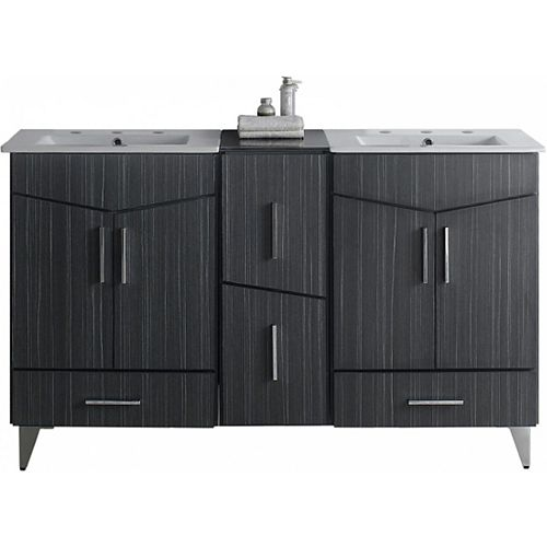 American Imaginations 61.5-inch W Floor Mounted Zen Vanity