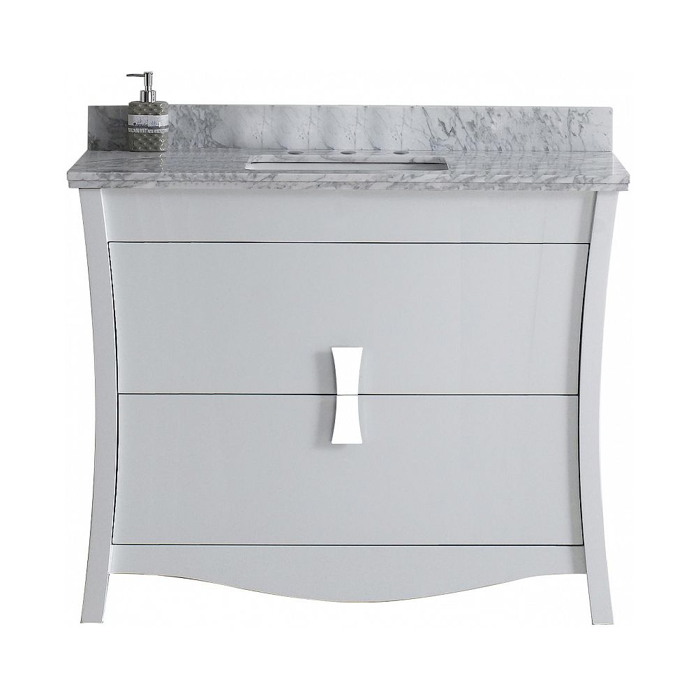 American Imaginations 47.6-inch W Vanity With Stone Top
