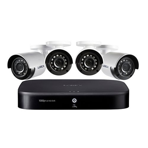 1080p 8 Channel 1TB Hard Drive DVR Security System with 4 x Outdoor Bullet Security Cameras