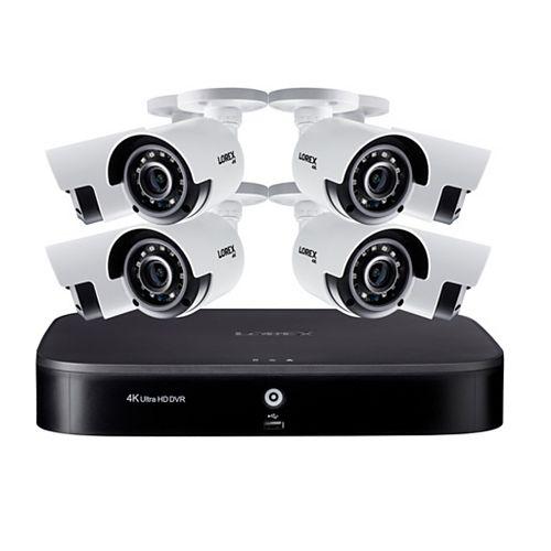 Système de sécurité DVR 4K Ultra HD 8 canaux  2 To de Lorex 8 caméras de surveillance extérieurs
