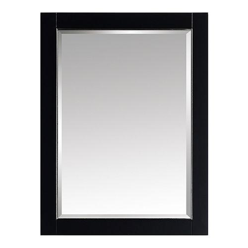 Mason 24 inch Framed Mirror in Black with Silver Trim