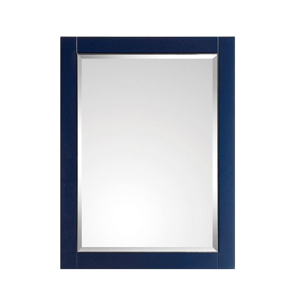 Avanity Miroir Avanity de 24 po pour meuble-lavabo Mason, fini bleu marin et garniture argent
