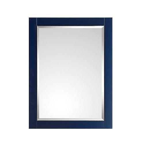 Miroir Avanity de 24 po pour meuble-lavabo Mason, fini bleu marin et garniture argent