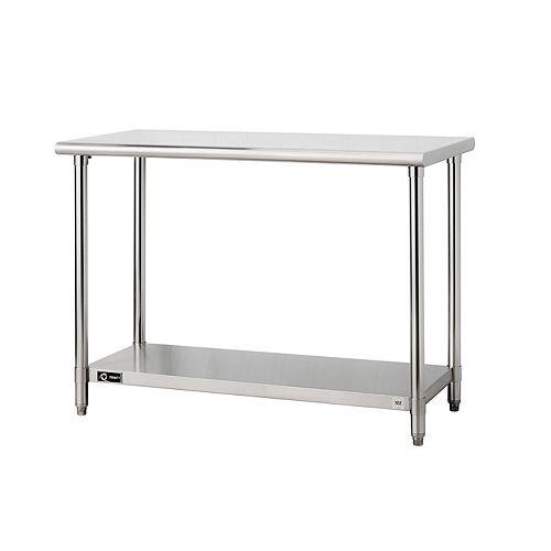"EcoStorage Stainless Steel Table-48"" x 24"" x 35""-NSF"
