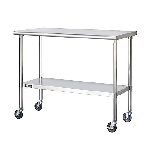 EcoStorage Stainless Steel Table-NSF-Includes Wheels