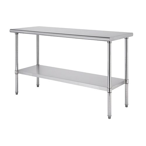 """Pro EcoStorage 60""""W x 24""""D Stainless Steel Table"""