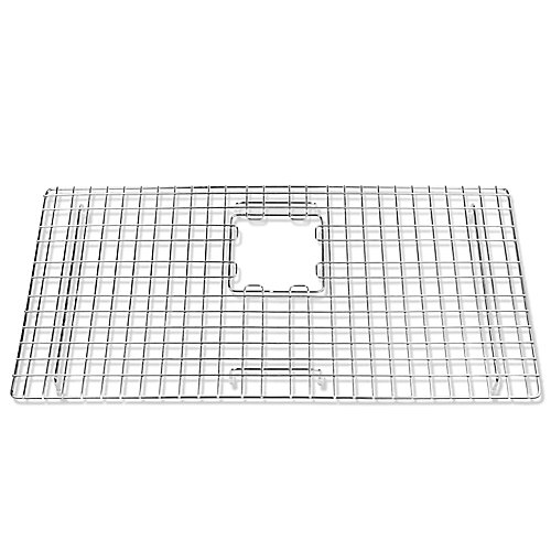 SinkSense Alder 27.5 inch x 14 inch Bottom Grid for Kitchen Sinks Rear Offset in Stainless Steel
