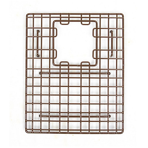 SinkSense Morgon 14 inch x 11.75 inch Bottom Grid for Kitchen Sinks Rear Offset in Antique Brown