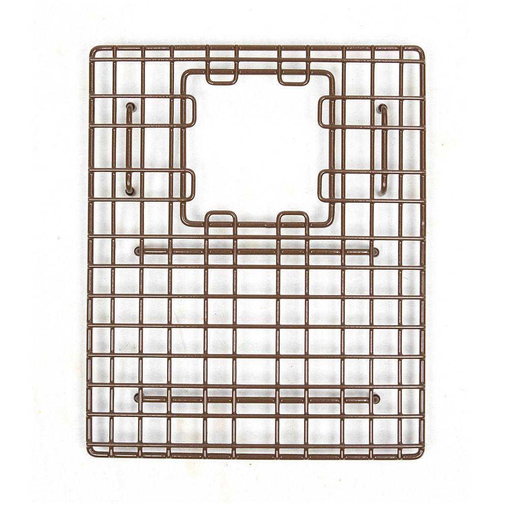 Sinkology SinkSense Morgon 14 inch x 11.75 inch Bottom Grid for Kitchen Sinks Rear Offset in Antique Brown