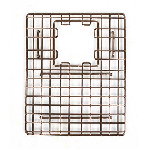 SinkSense Morgon 14 inch x 11.75 inch Bottom Grid for Kitchen Sinks Rear Offset in Antique Brown