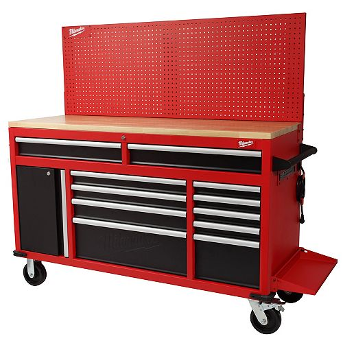 61-inch High Capacity 11-Drawer Mobile Workbench