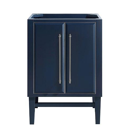 Avanity Meuble-lavabo Avanity Mason de 24 po, fini bleu marin et garniture argent