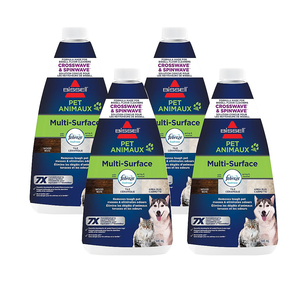 Bissell Multi-Surface Pet with Febreze® Freshness for CrossWave® 4 Pack of 32 oz. Bottles