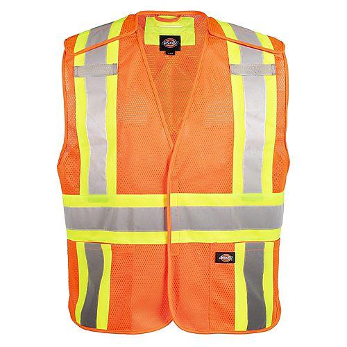Hi-Viz safety vest, Orange, 2/3XL