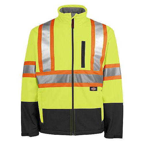 Hi-Viz Safety Softshell Jacket, Yellow, M