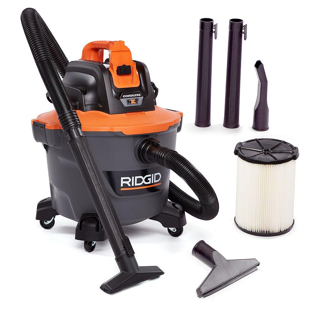 RIDGID Aspirateur sans fil NXT pour déchets solides et humides, 18 V, 34 L (9 gal) [outil seulement]