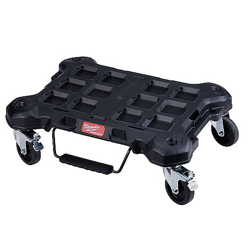 Milwaukee Tool PACKOUT Dolly 24-inch x 18-inch  Black Multi-Purpose Utility Cart