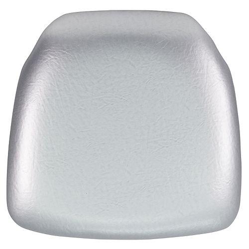 Silver Vinyl Cushion