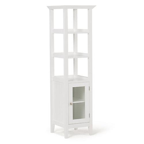 Acadian 56.1 inch H x 15.75 inch W Bath Storage Tower Bath Cabinet in White