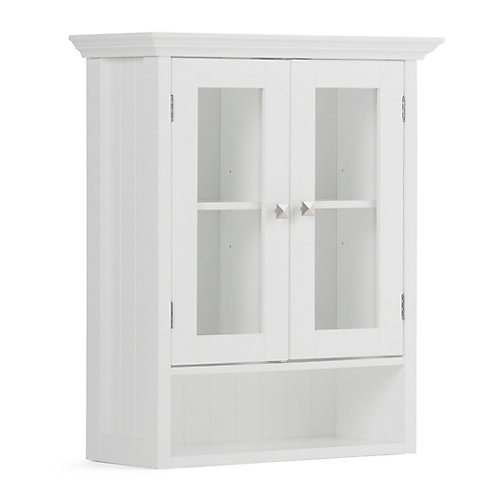 Acadian 28 inch H x 23.6 inch W Double Door Wall Bath Cabinet in White
