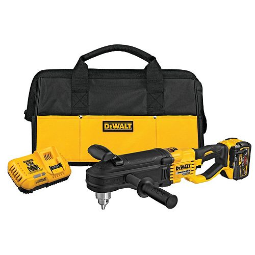 FLEXVOLT 60V MAX Lithium-Ion Cordless Brushless 1/2-inch Stud and Joist Drill Kit W/9.0 Ah Pack, Tool Bag and Charger