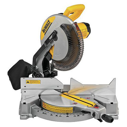 DEWALT 15 Amp Corded 12-inch Compound Single Bevel Miter Saw