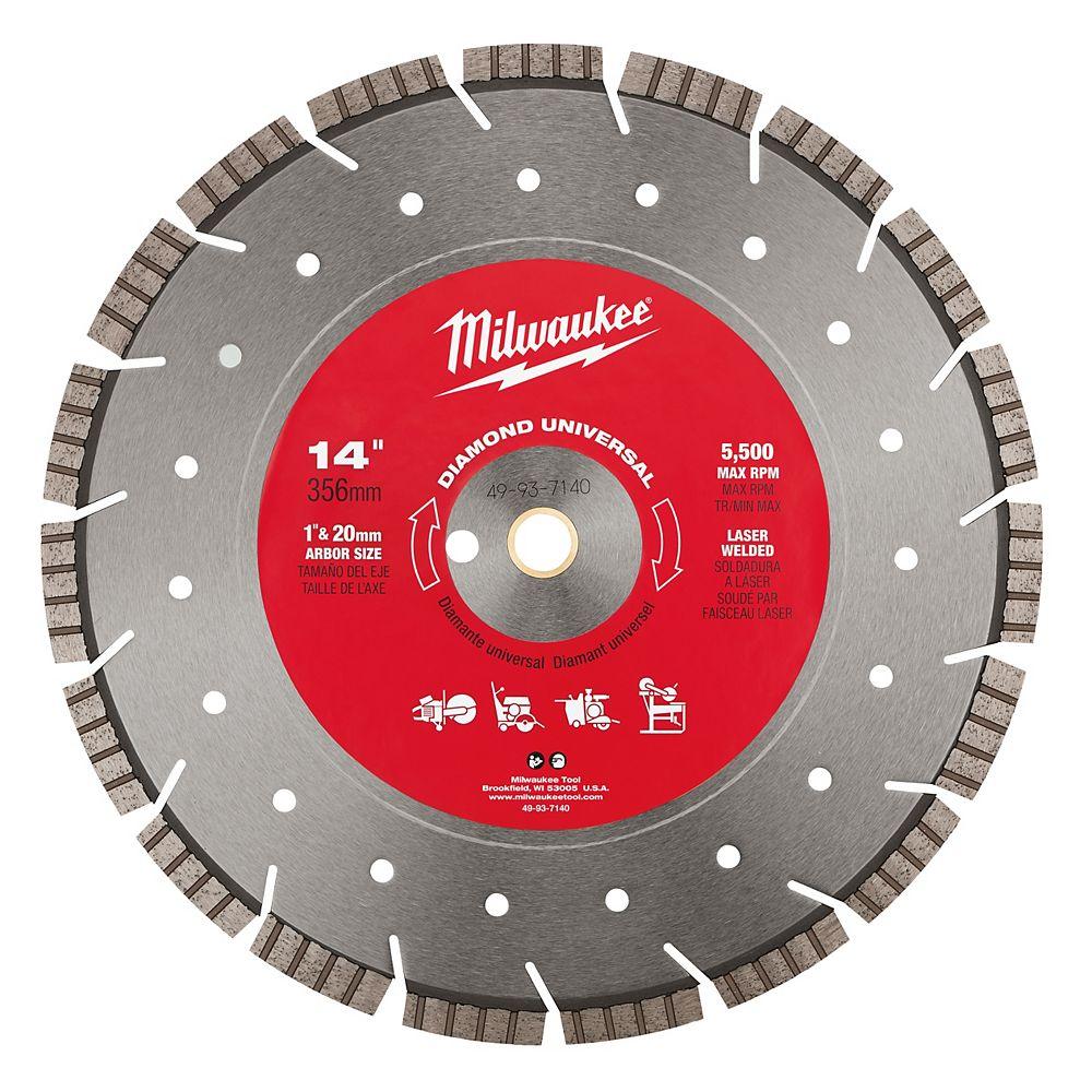 Milwaukee Tool 14-inch Diamond Universal segmented-turbo Blade