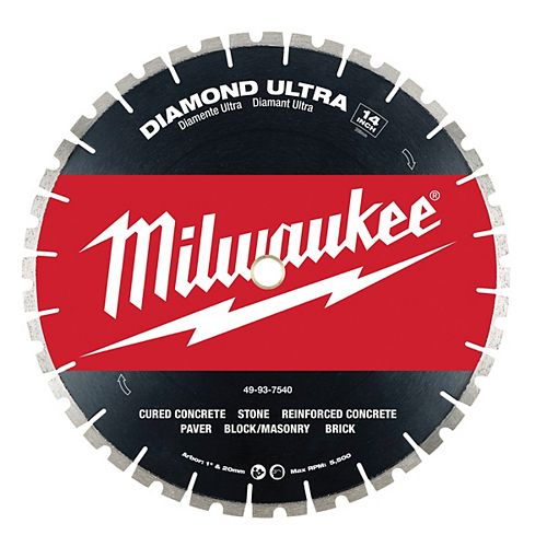 Milwaukee Tool 14-inch Diamond High Speed Segmented Blade