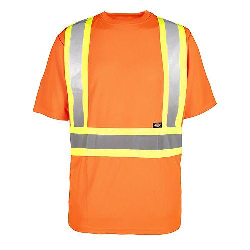 Hi-Viz Short Sleeve Safety T-Shirt, Orange, XL