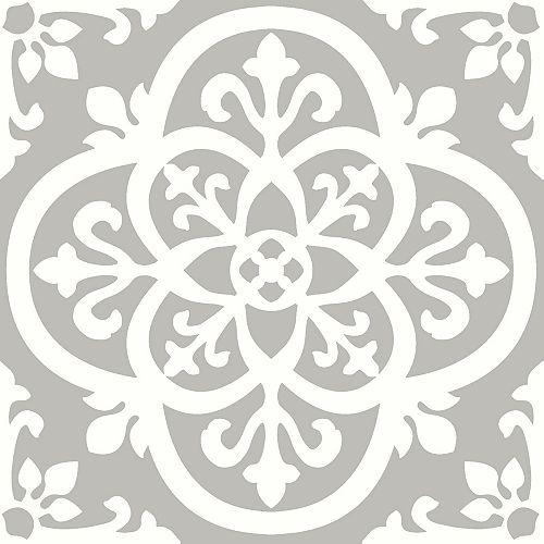 Revêtement de sol en feuilles de vinyle Medina Peler et Coller de 12 po x 12 po (20 pi2 par caisse)