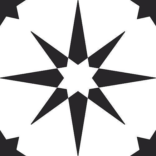 Revêtement de sol en feuilles de vinyle Altair Peler et Coller de 12 po x 12 po (20 pi2 par caisse)