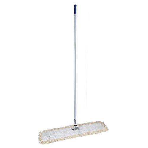 """Vadrouille sèche pour les planchers - manche inclus -  36"""" (91,4 cm) - blanche"""