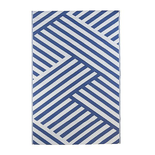 Kino Blue 7 ft. 10-inch x 11 ft. 6-inch Outdoor Area Rug