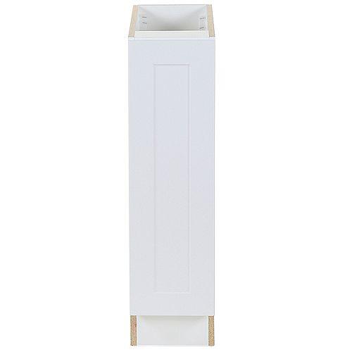Edson 9 pouces W x 34,5 pouces H x 24,5 pouces D Shaker Style Assemblé Armoire/Armoire de base de cuisine en blanc massif (B09FHL)