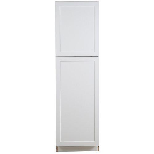 Armoire garde-manger Edson blanche assemblée de 60,96 cm l x 2,13 m H x 62,23 cm P - T248424L