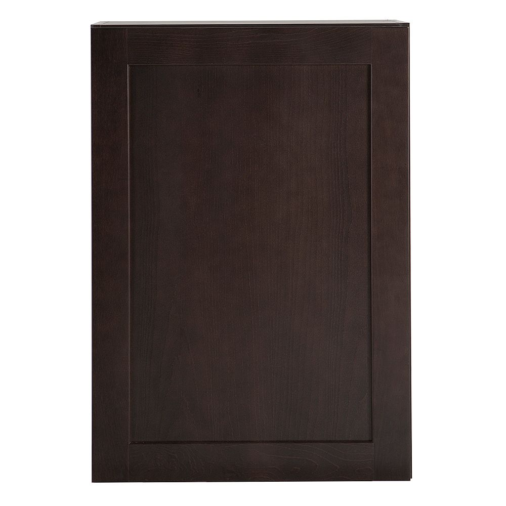 Hampton Bay Edson 21-inch W x 30-inch H x 12.5-inch D Shaker Style Assembled Kitchen Wall Cabinet in Dusk Cocoa Brown with Adjustable Shelves (W2130L)