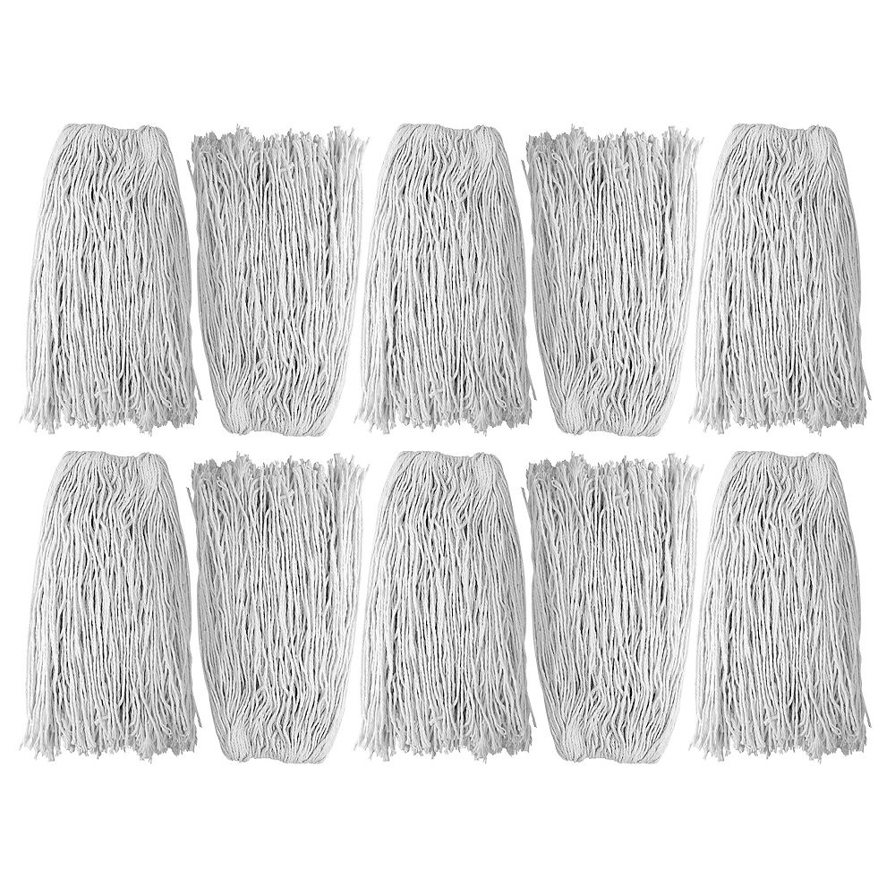 Johnny Vac String Mop Replacement Head - Washing Mops - 20 oz (550 g) - White - Box of 10 - Select FSS20