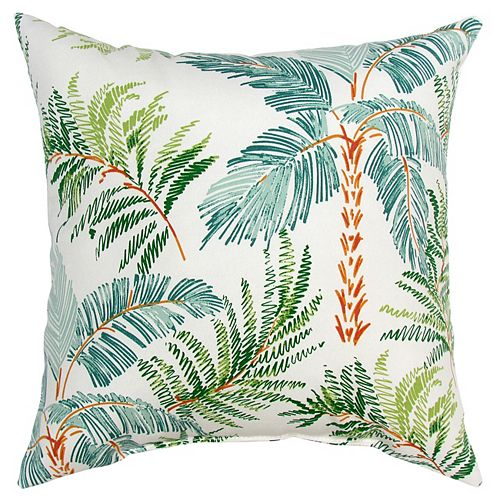 Toss cushion palm green
