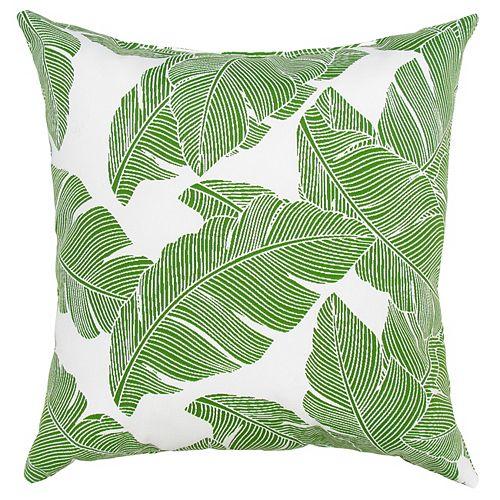 Toss cushion leaf green