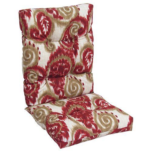 Highback red/beige floral