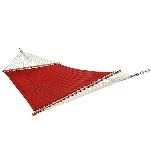 13 ft. Quilted Hammock in Red