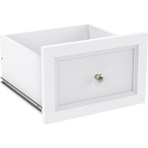 ClosetMaid ClosetMaid Sélectifs Tiroir décoratif étroit 16 po x 10 po blanc
