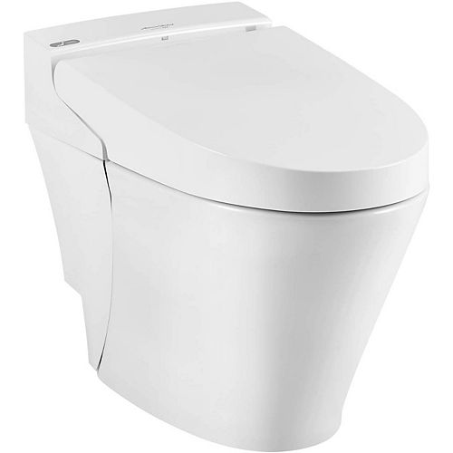 Advanced Clean 100 Spalet 12-inch Rough-In 1-piece 0.92/1.32 GPF Dual Flush Elongated Toilet in White